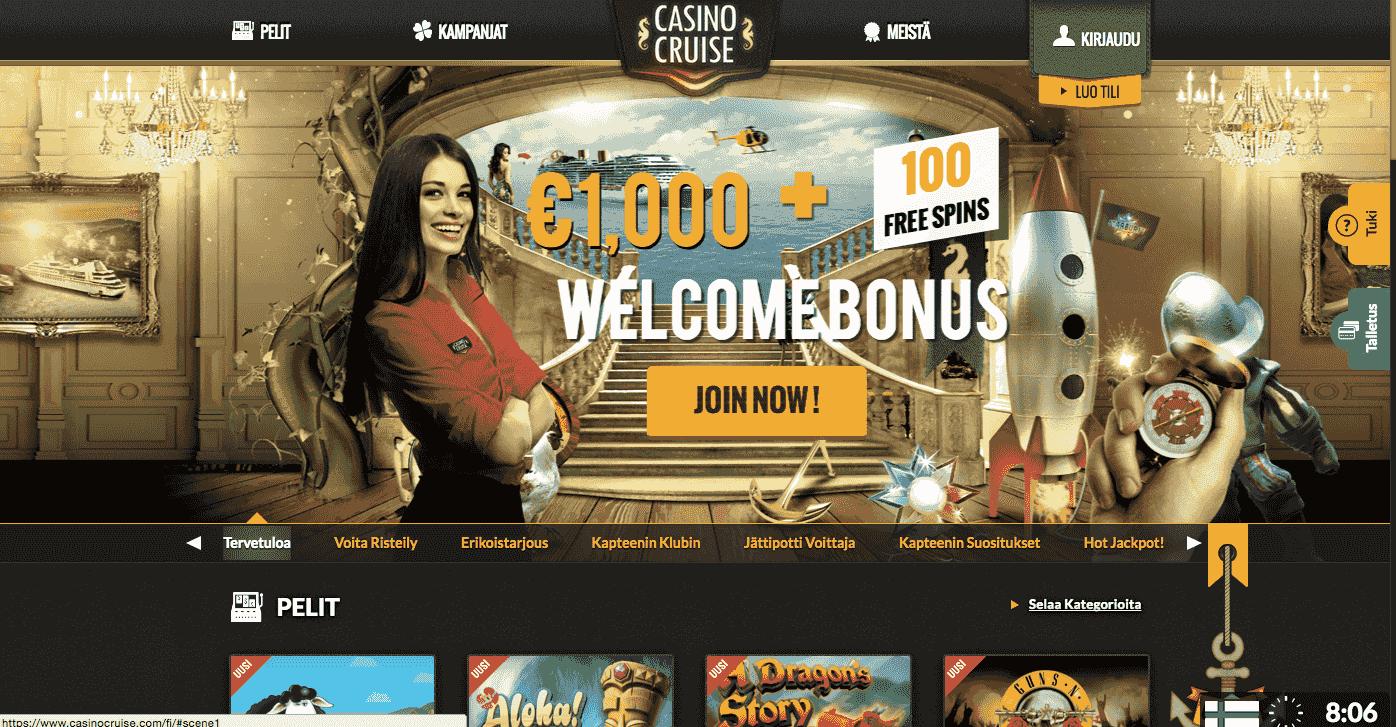 Casino Cruise Nettikasino Arvostelu ja Kokemuksia