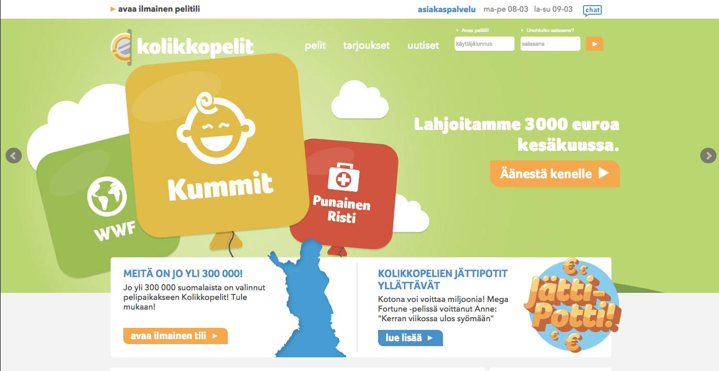 Kolikkopelit Nettikasino Arvostelu ja Kokemuksia Screenshot