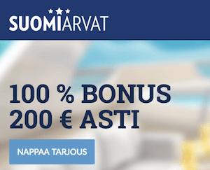 Suomiarvat bonukset ja tarjoukset