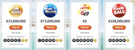 Eurolotto ja isoimmat lottopelit maailmassa