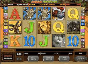 Mega Moolah jackpot-peli