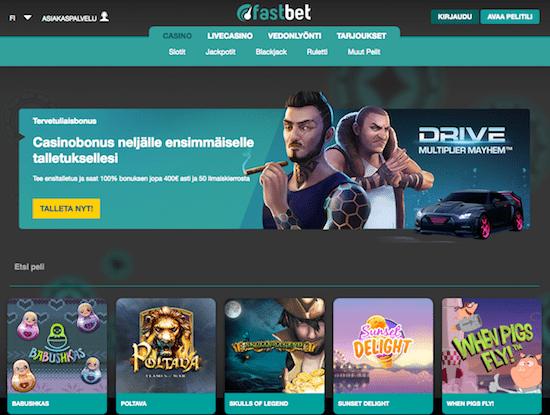Fastbet Nettikasino Arvostelu ja Kokemuksia Screenshot