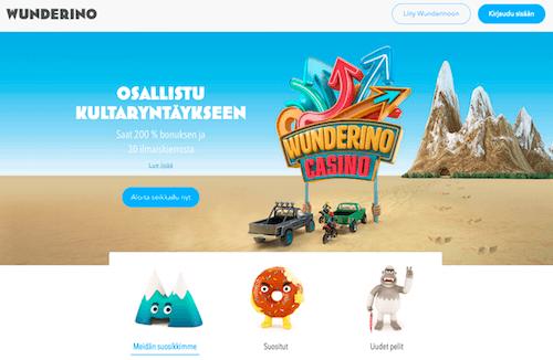 Wunderino Kasino Arvostelu ja Kokemuksia Screenshot