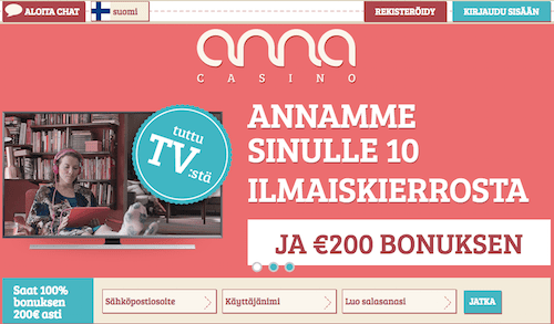 AnnaCasino Arvostelu ja Kokemuksia Screenshot