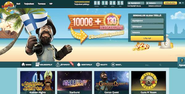 LuckLand Nettikasino Arvostelu ja Kokemuksia Screenshot