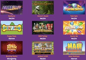 Violet casinon pelivalikoima on laaja