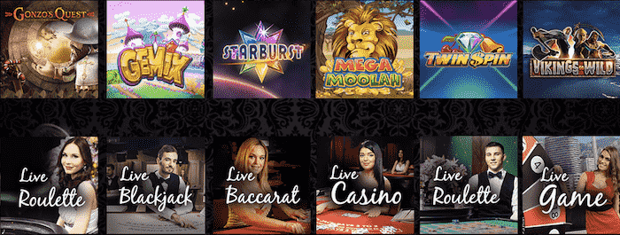 Premier live casinon pelivalikoima on huikea