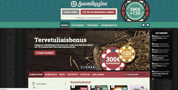 SuomiKasino Arvostelu ja Kokemuksia Screenshot