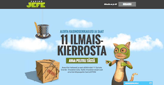 CasinoJEFE Nettikasino Arvostelu ja Kokemuksia Screenshot