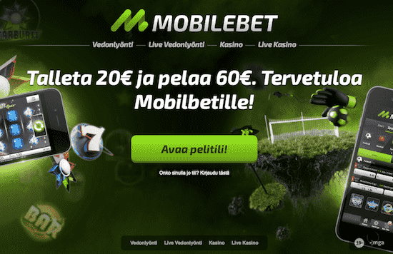 Mobilebet Nettikasino Arvostelu ja Kokemuksia Screenshot