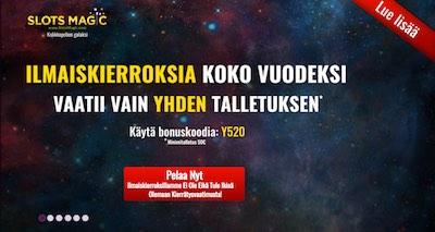 Slotsmagic Nettikasino Arvostelu ja Kokemuksia Screenshot