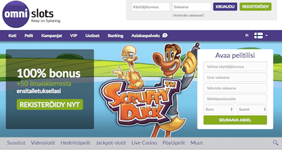 Omni Slots Nettikasino Arvostelu ja Kokemuksia Screenshot