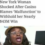 Nainen voitti 43 miljoonaa mutta sai vain pihvi-illallisen