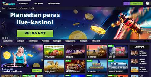 Cashiopeia Casino Arvostelu ja Kokemuksia Screenshot