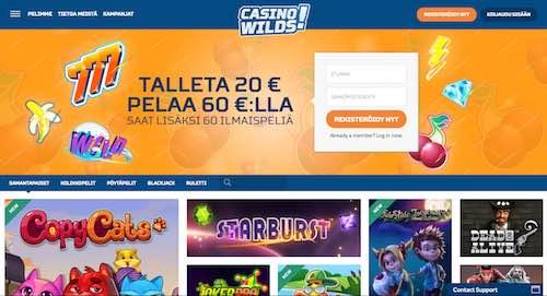 Casino Wilds Arvostelu ja Kokemuksia Screenshot