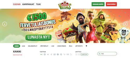 Mucho Vegas Nettikasino Arvostelu ja Kokemuksia Screenshot