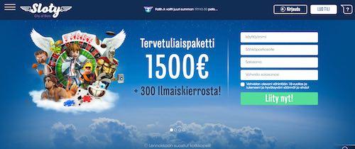 Sloty Nettikasino Arvostelu ja Kokemuksia Screenshot