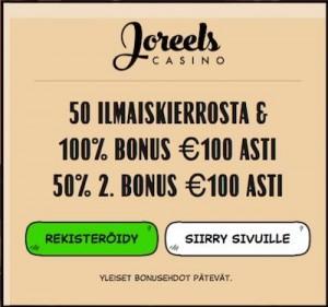 Joreels Casino Arvostelu ja Kokemuksia Screenshot
