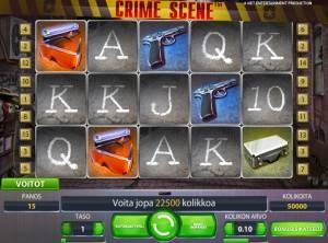 Crime scene peli netent