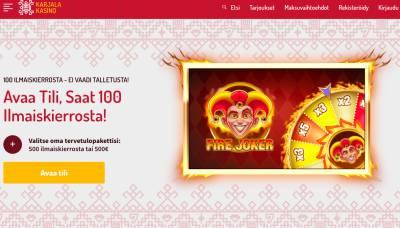 Karjala Kasino Kokemuksia & Arvostelu 2019 Screenshot