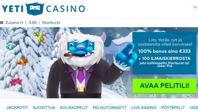 Yeti Casino Arvostelu ja Kokemuksia Screenshot