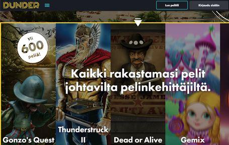 Dunder Casino Arvostelu ja Kokemuksia Screenshot