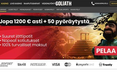 Goliath Casino Kokemuksia ja Arvostelu Screenshot