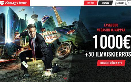 Vegas Hero Casino Arvostelu ja Kokemuksia Screenshot
