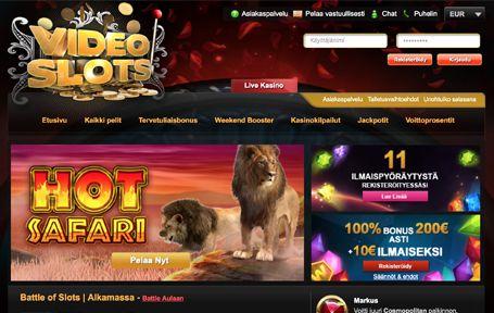 VideoSlots Casino Arvostelu ja Kokemuksia Screenshot