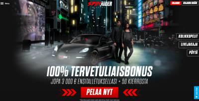 Spin Rider Casino Arvostelu ja Kokemuksia Screenshot