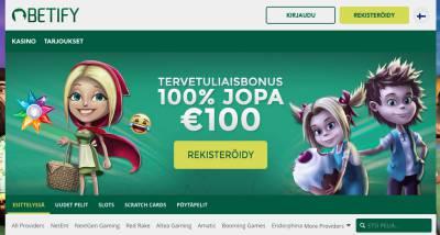 Betify Casino Arvostelu ja Kokemuksia Screenshot