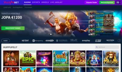 Vulkanbet Casino Arvostelu ja Kokemuksia Screenshot