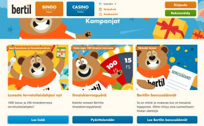 Bertil Casino Arvostelu ja Kokemuksia Screenshot