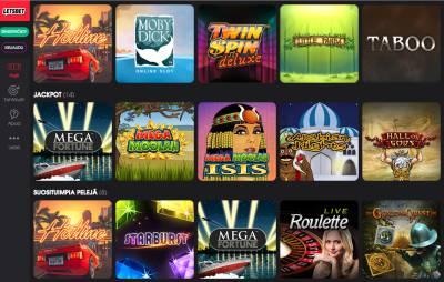 LetsBet Casino Arvostelu ja Kokemuksia Screenshot