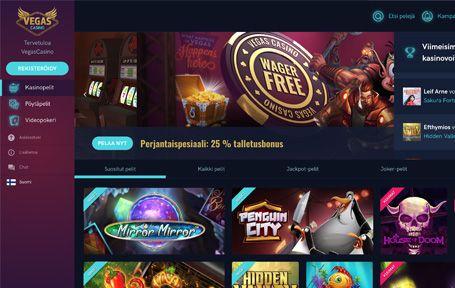 Vegas Casino Arvostelu ja Kokemuksia Screenshot