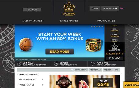 21 Casino Arvostelu ja Kokemuksia Screenshot
