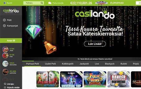 Casilando Nettikasino Arvostelu ja Kokemuksia Screenshot