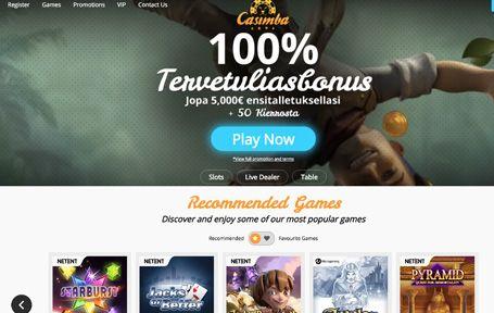 Casimba Casino Arvostelu ja Kokemuksia Screenshot