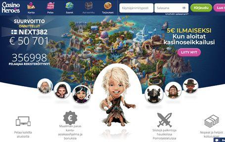 Casino Heroes Kokemuksia ja Arvostelu Screenshot