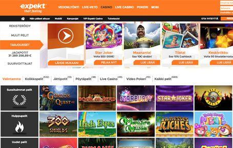 Expekt Casino Arvostelu ja Kokemuksia Screenshot