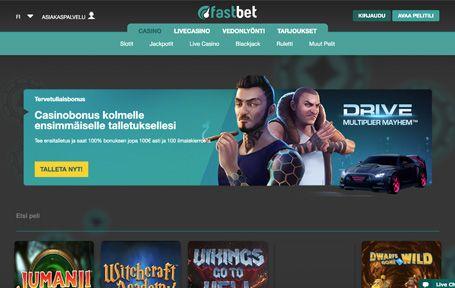 Fastbet Casino Arvostelu ja Kokemuksia Screenshot