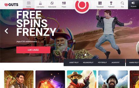 Guts Casino Arvostelu ja Kokemuksia Screenshot