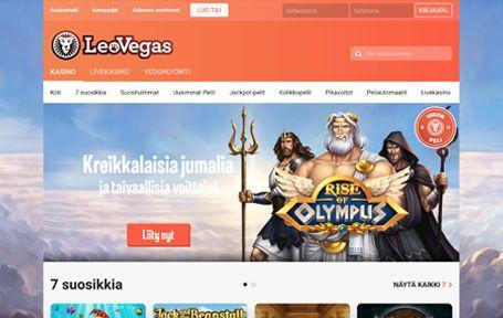 LeoVegas Nettikasino Arvostelu ja Kokemuksia Screenshot