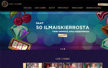 Live Lounge Nettikasino Arvostelu ja Kokemuksia Screenshot