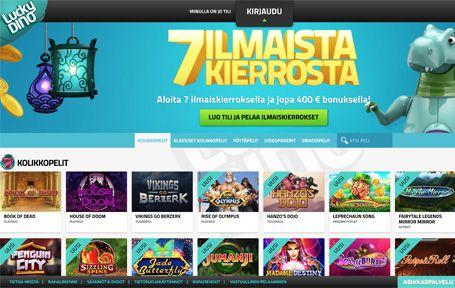 Lucky Dino Nettikasino Arvostelu ja Kokemuksia Screenshot