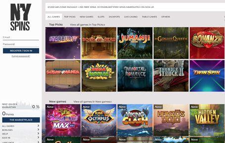 NySpins Nettikasino Arvostelu ja Kokemuksia Screenshot