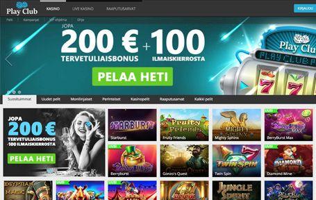 Play Club Casino Arvostelu ja Kokemuksia Screenshot
