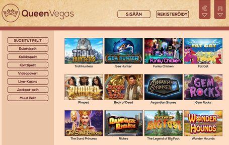 Queen Vegas Nettikasino Arvostelu ja Kokemuksia Screenshot