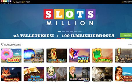 SlotsMillion Arvostelu ja Kokemuksia Screenshot