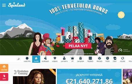 Spinland Casino Arvostelu ja Kokemuksia Screenshot